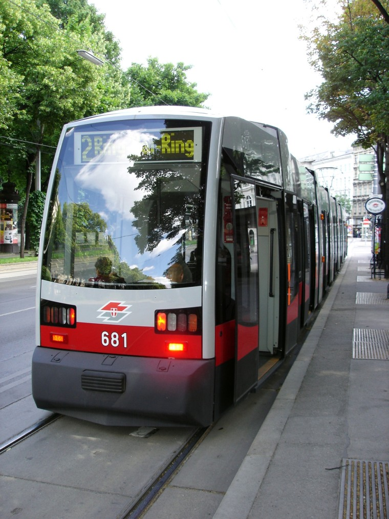 In Vienna, a tram ride along the Ringstrasse takes you on a loop around the city center.